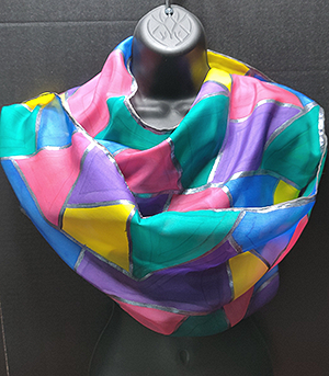 Hand Painted Scarves by Gina Butera
